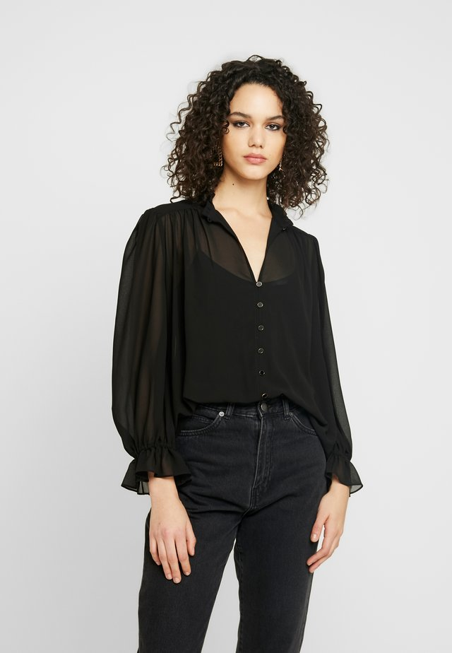 XANNA SHEER BLOUSE - Camisa - black
