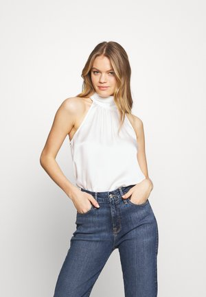 CLEO RUCHED NECK CAMI - Blouse - porcelain