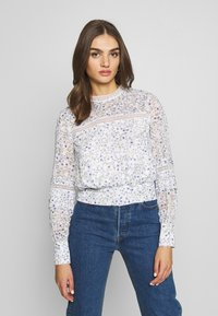 Forever New - PLEAT DETAIL TOP - Blusa - climbing speckled ditsy - 0