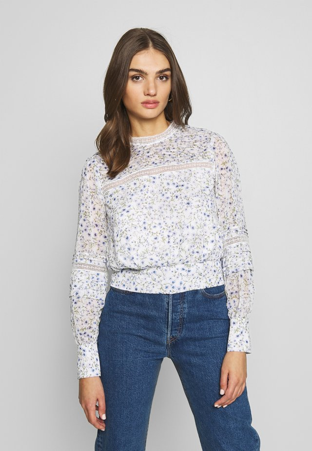 PLEAT DETAIL TOP - Bluzka - climbing speckled ditsy