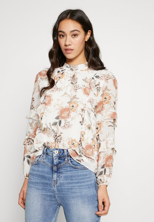 ORINTHIA RUFFLE TRIM BLOUSE - Bluse - off-white