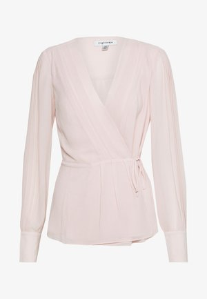 WRAP PLEAT BLOUSE - Blůza - blush