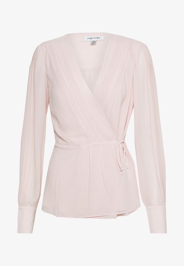 WRAP PLEAT BLOUSE - Bluzka - blush