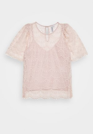 ALICIA PUFF SLEEVE - Blůza - blush