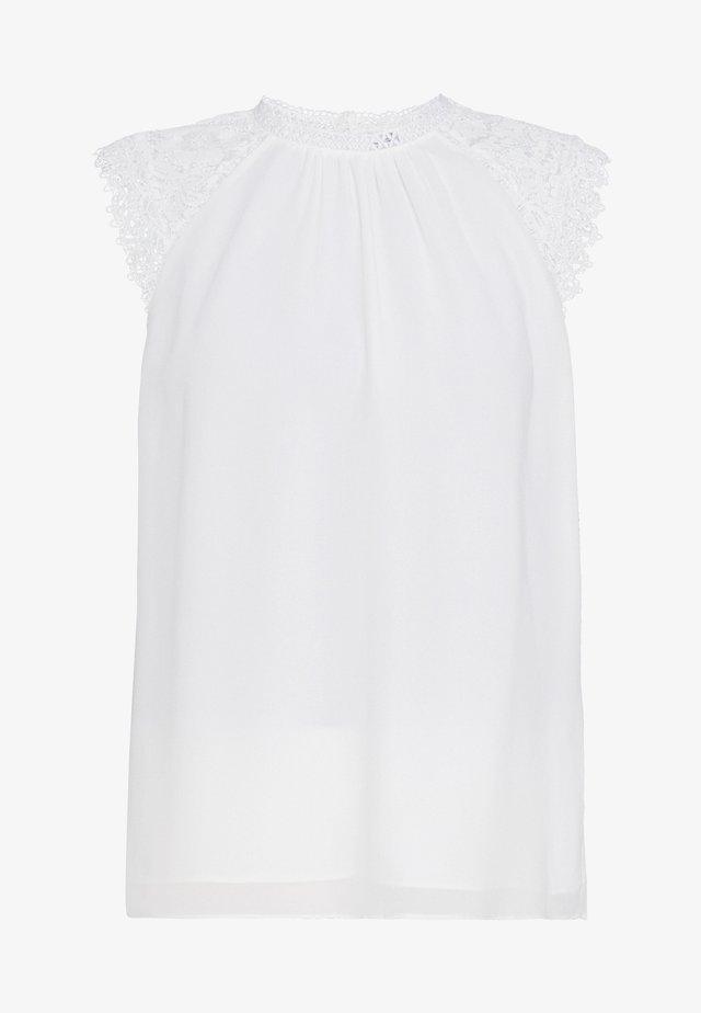 LULU SHOULDER  - Bluse - porcelain