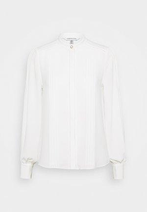 PINTUCK - Button-down blouse - porcelain