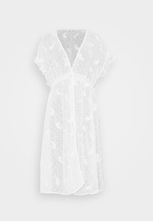 PAISLY KIMONO - Chaqueta fina - white