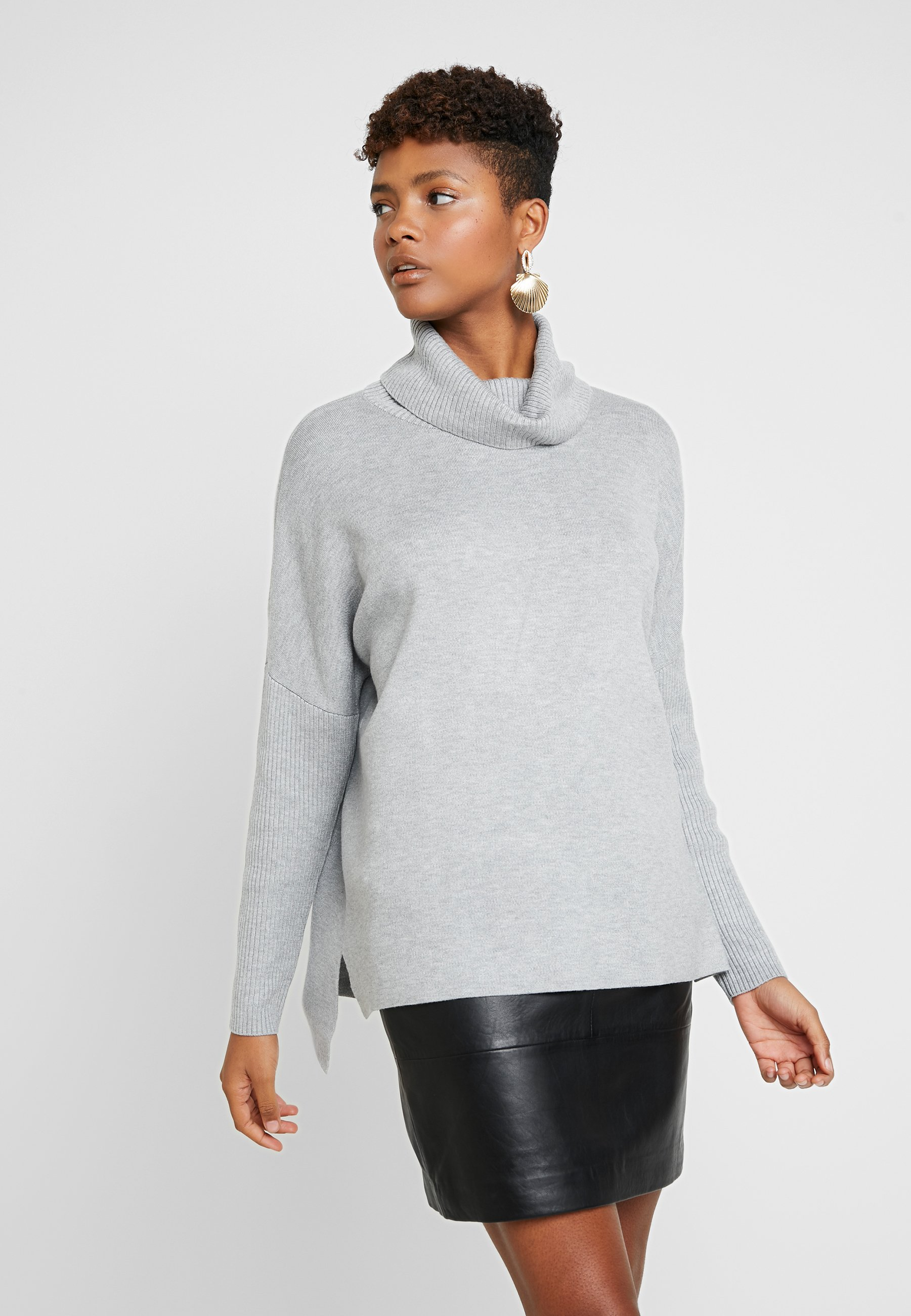 New mid JUMPERStrickpullover Forever CLEAN ROLL NECK grey JAZMINE WD9IHYEe2