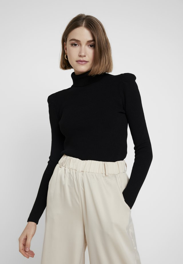 MAYA PUFF SLEEVE JUMPER - Sweter - black