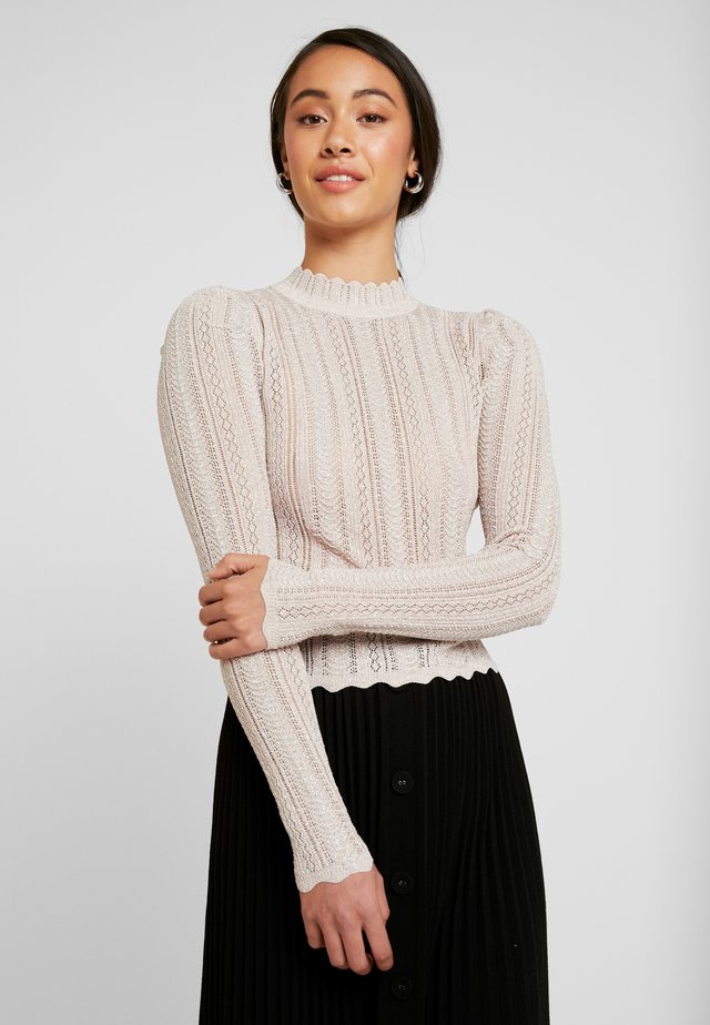 AZALEA POINTELLE PUFF JUMPER - Jumper - blush
