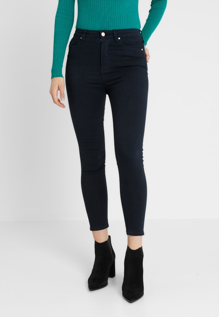 Forever New - KAIA HIGH RISE CROP KNEE RIPS - Jeans Skinny Fit - navy