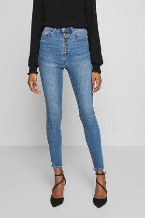 HEIDI HIGH RISE ANKLE GRAZER  - Jeans Skinny Fit - san jose blue