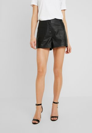 BUTTON FRONT - Shorts - black