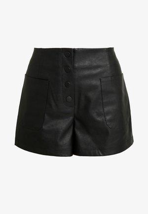 BUTTON FRONT - Short - black