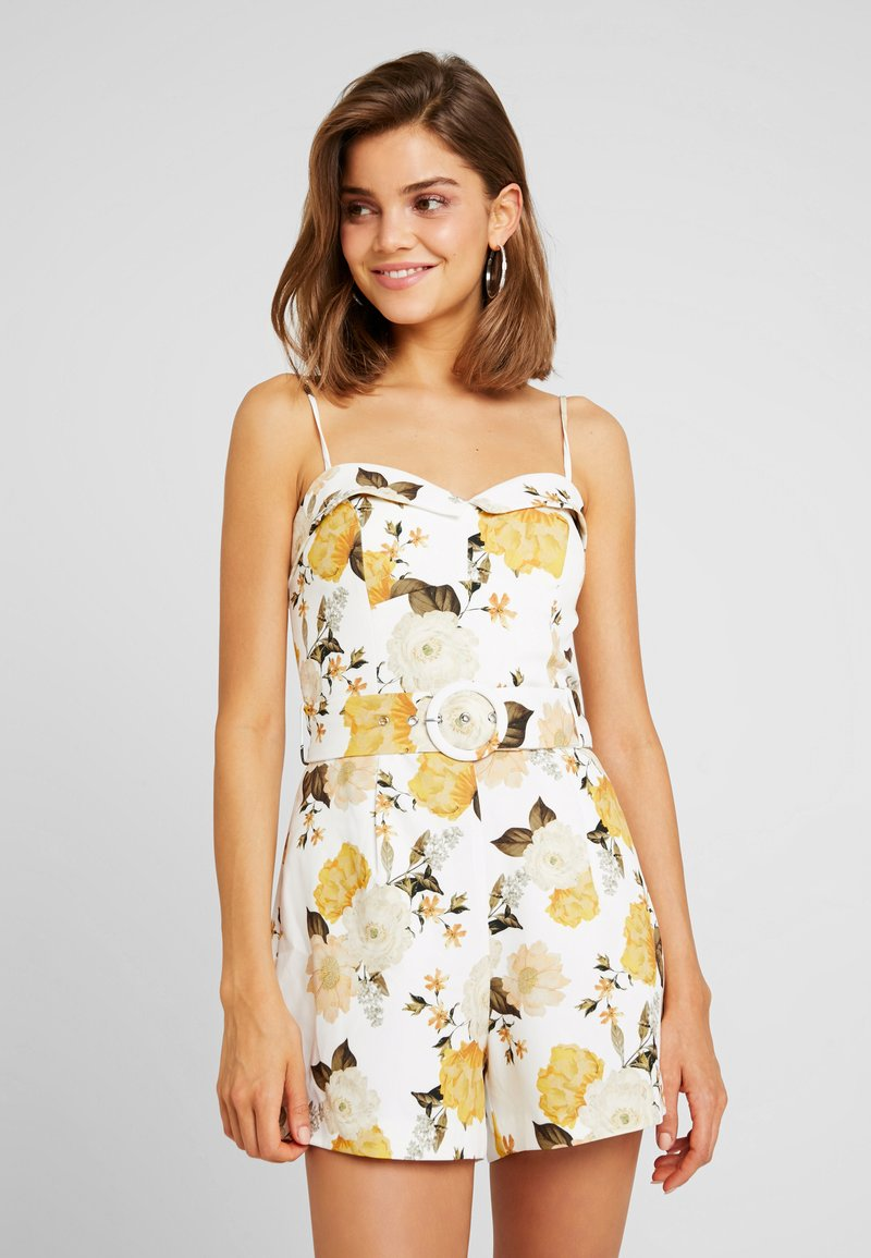 Forever New - BELTED - Jumpsuit - off-white/yellow