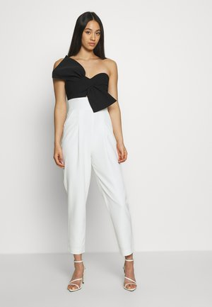 BOW BODICE - Jumpsuit - black/white