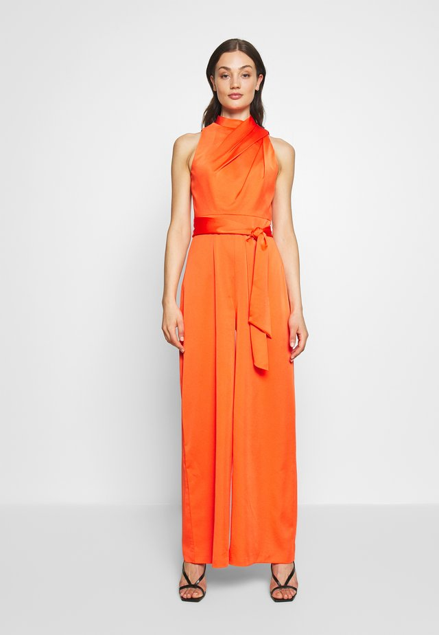 DRAPED NECK - Jumpsuit - orange