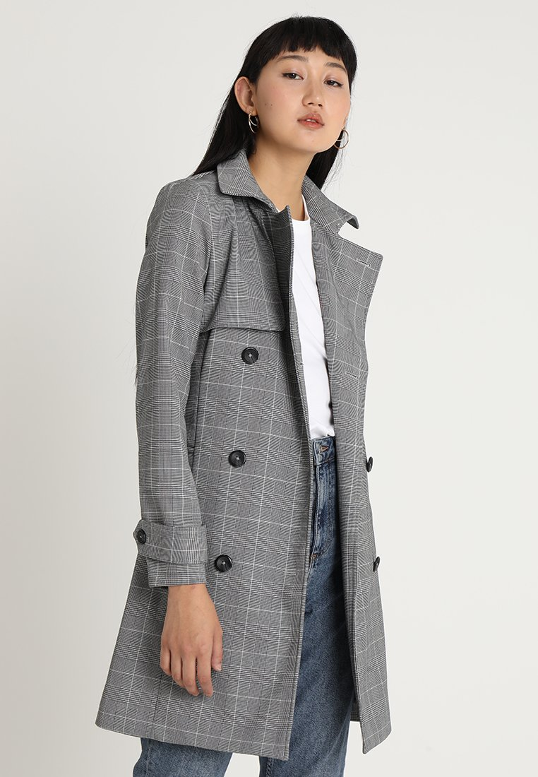 Forever New - MILA CHECK  - Trenchcoat - black