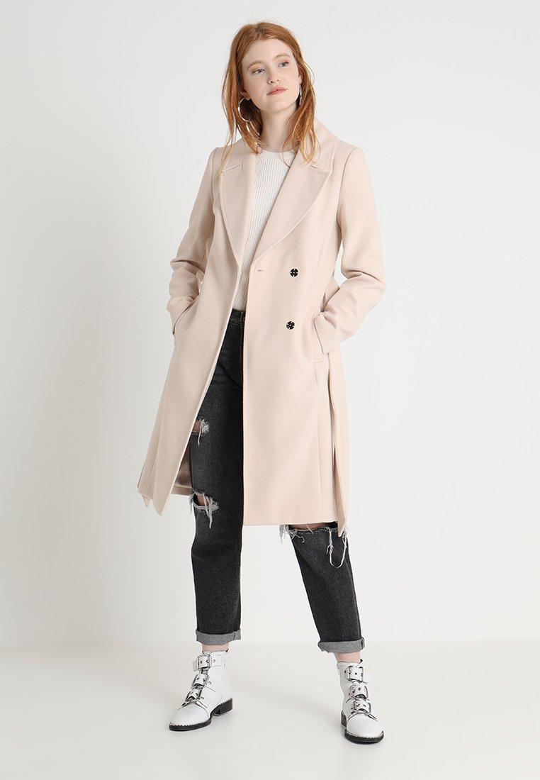 Forever New - LAUREN WRAP COAT - Classic coat - oatmeal