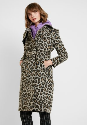 LINDA LEOPARD - Zimní kabát - brown