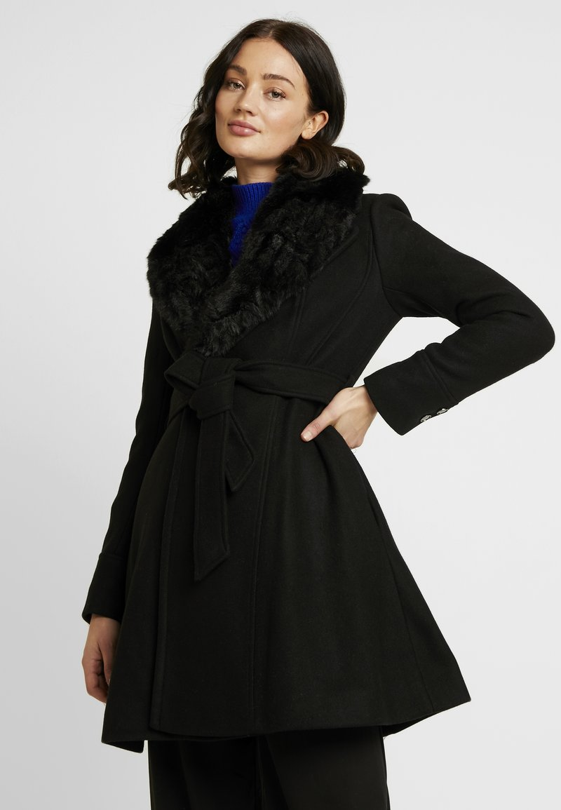 Forever New - EMILIA SKIRT COAT - Villakangastakki - black