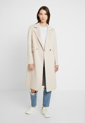 PHILLIPA FELLED SEAM COAT - Abrigo - oatmeal