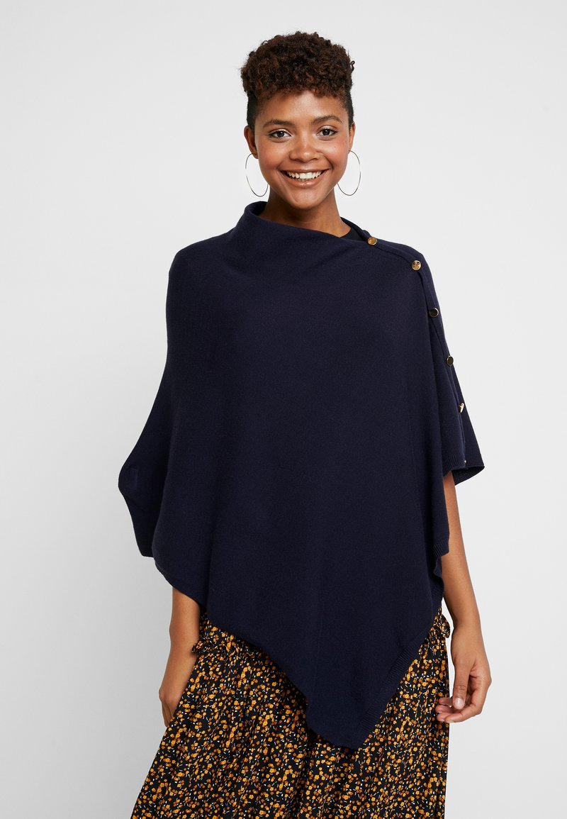 Forever New - BUTTON PONCHO - Cape - navy