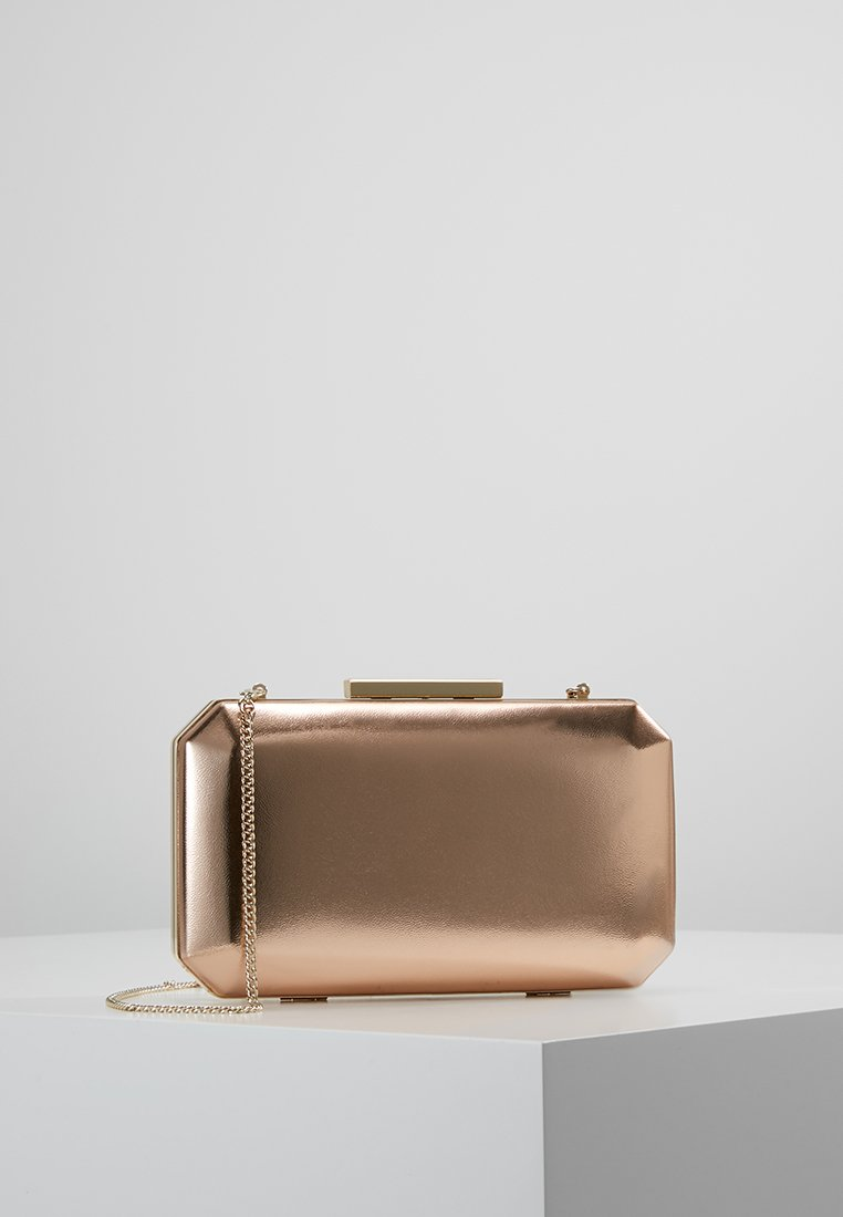 Forever New - TARA GEO BOX - Clutch - metallic rose gold
