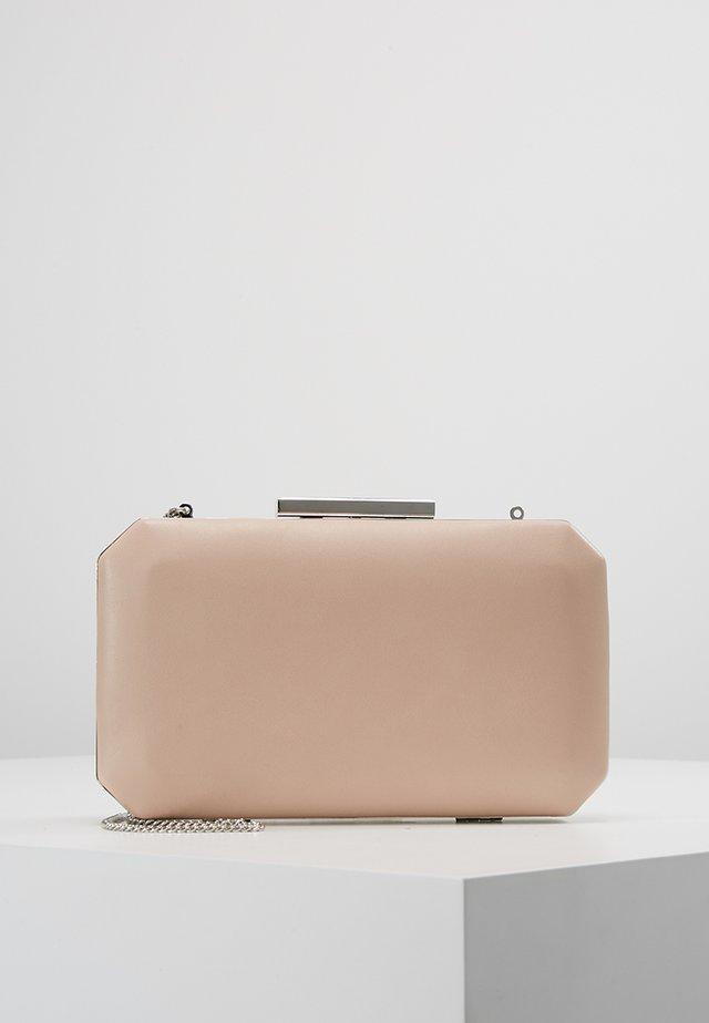 TARA GEO BOX - Clutch - nude