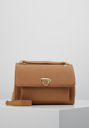 ANGELA FLIP LOCK SHOULDER BAG - Olkalaukku - tan