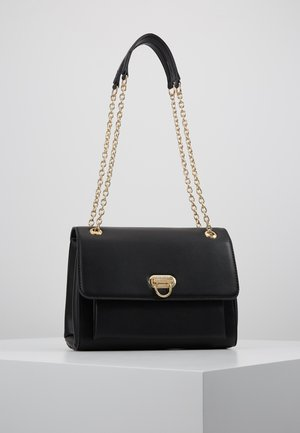 ANGELA FLIP LOCK SHOULDER BAG - Olkalaukku - black