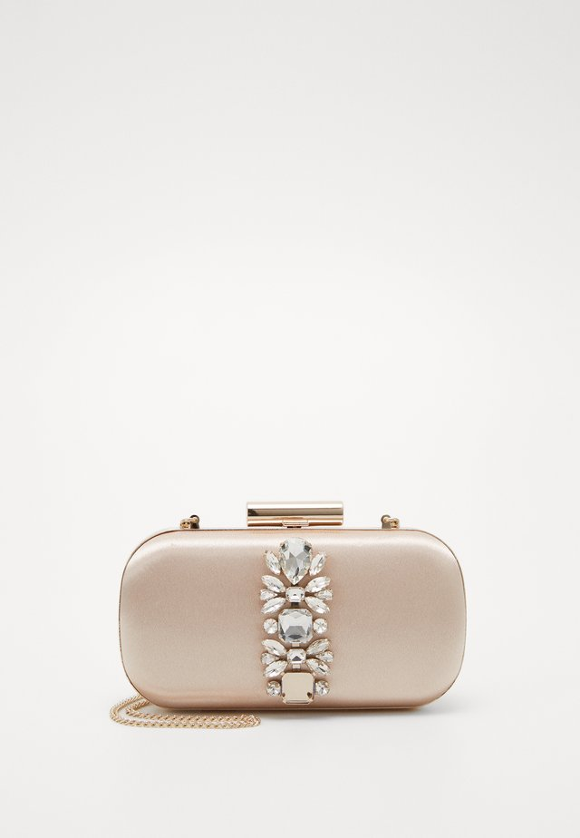ELIZABETH EMBELLISHED HARDCASE - Clutch - light nude