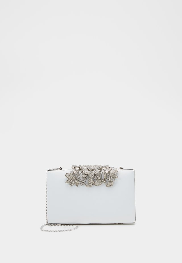 Clutch - ivory/clear/silver