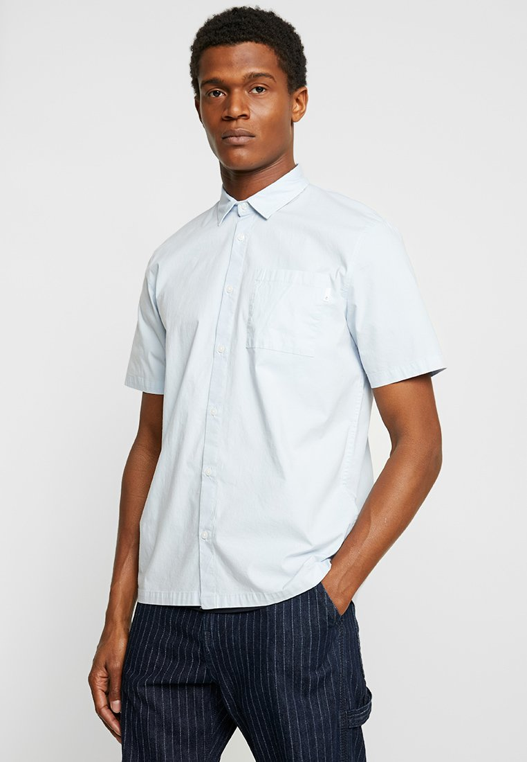 FoR - TORPA POPOVER POPLIN SHIRT - Chemise - mid blue