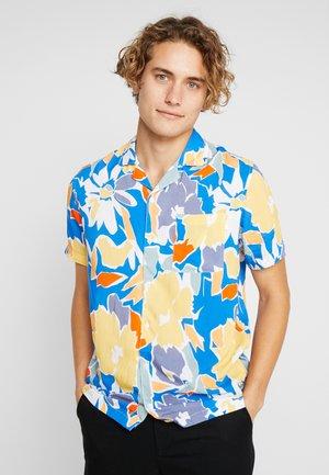 BELLINGA BLOCK FLORAL SHIRT - Shirt - navy