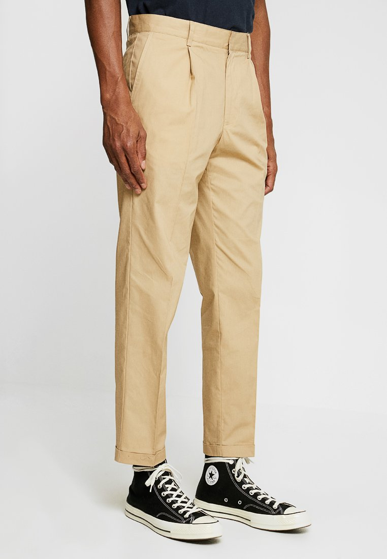 FoR - HARTLEY TAPERED FIT  - Chinos - stone