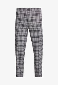 FoR - BAND GRAPHIC CHECK - Trousers - grey - 4