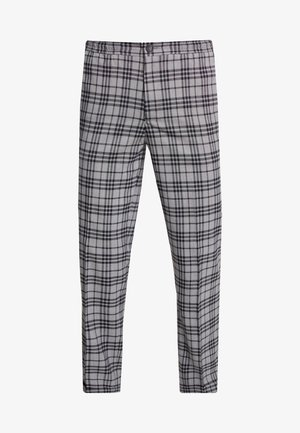 BAND GRAPHIC CHECK - Pantaloni - grey
