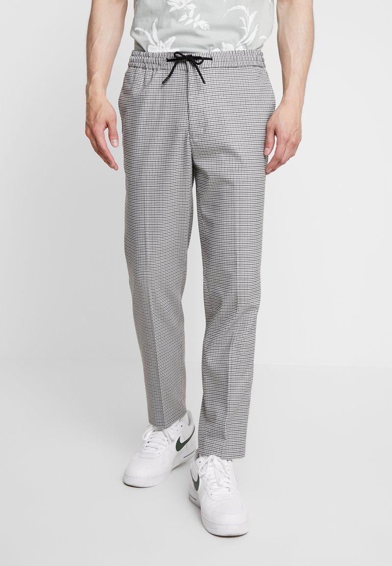FoR - DIERDRICK DRAWSTRING MINI CHECK - Spodnie materiałowe - grey