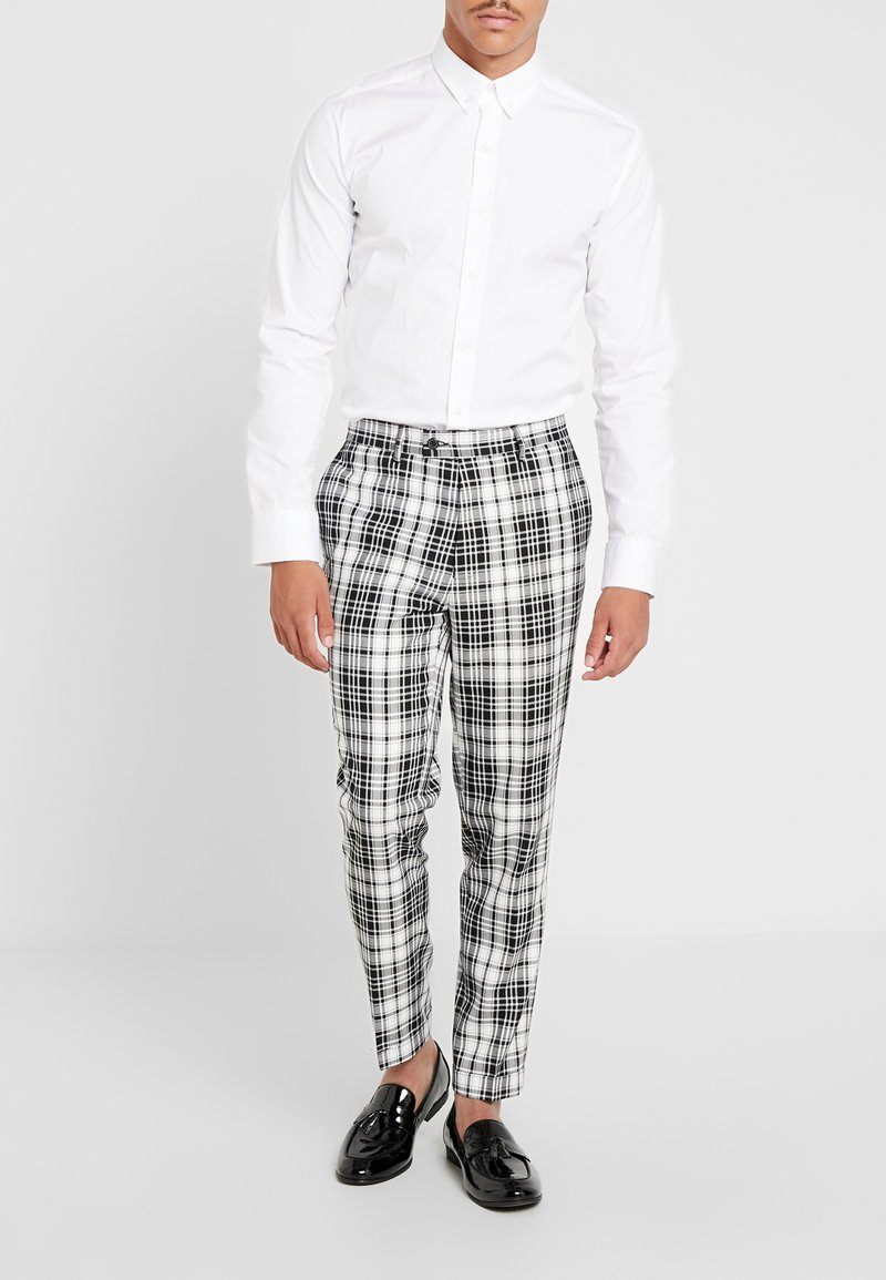 FoR - DALTON BOLD GRAPH CHECK - Spodnie materiałowe - ecru