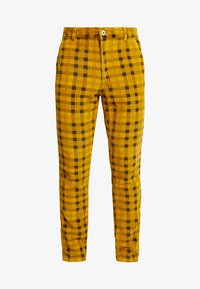 FoR - CHECK TROUSER - Kalhoty - yellow - 3