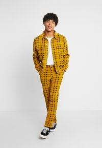 FoR - CHECK TROUSER - Kalhoty - yellow - 1
