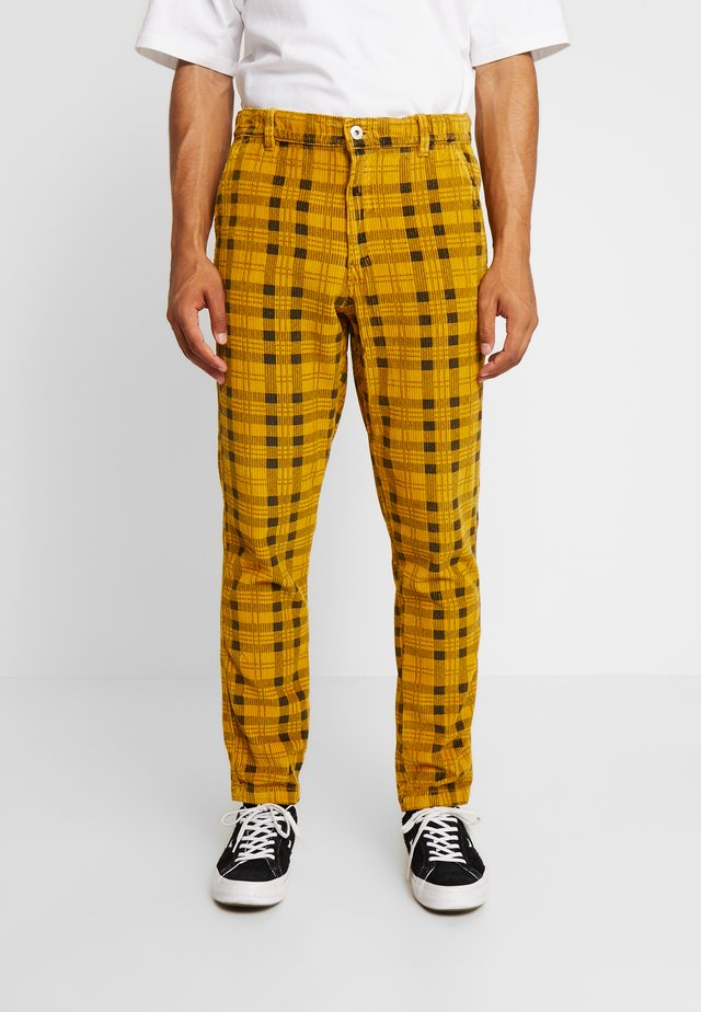CHECK TROUSER - Stoffhose - yellow