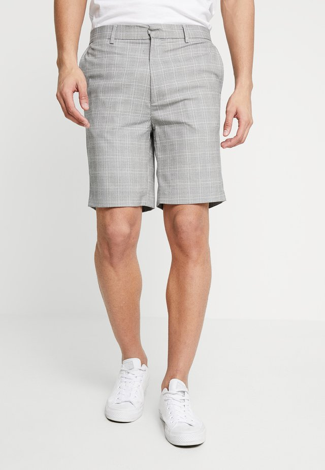 HAYTON TAILORED BERMUDA CHECK - Shorts - light grey