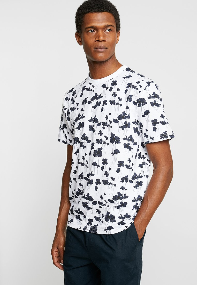 FoR - PIERRE FLORAL TEE - T-shirts print - white
