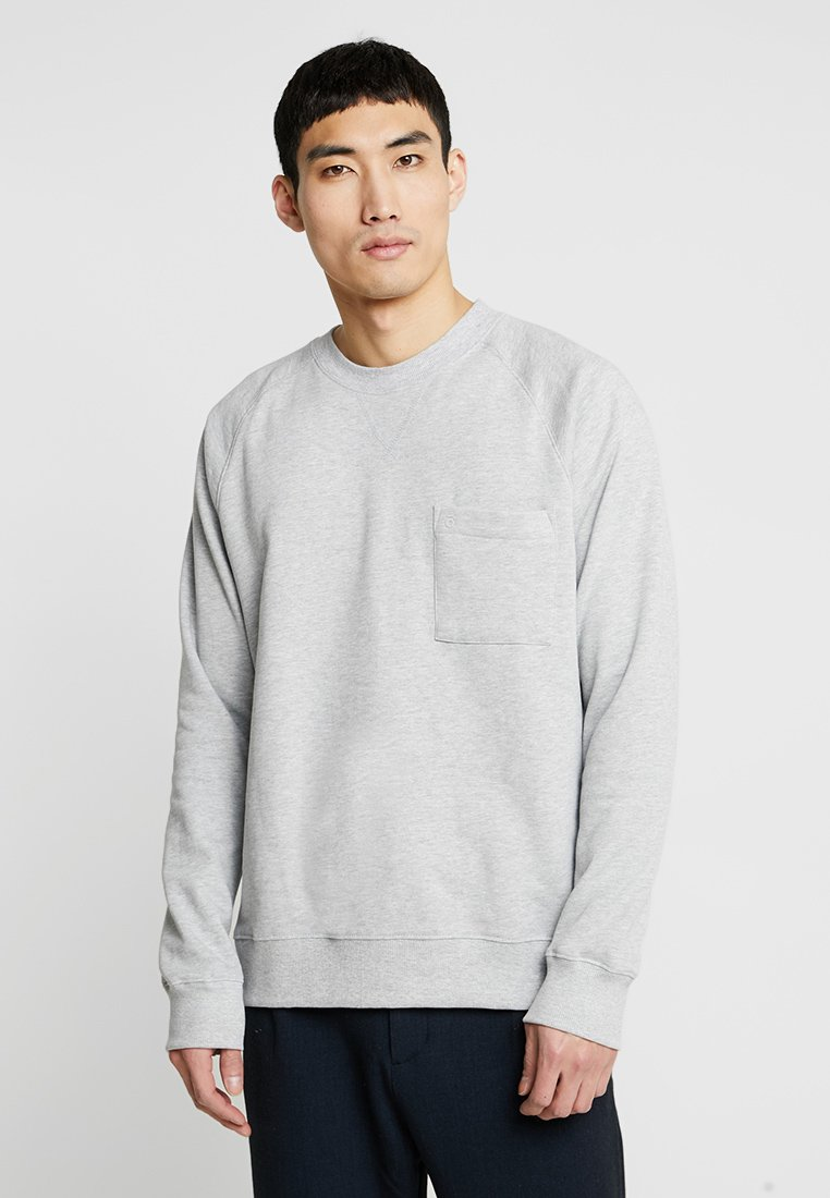 FoR - EVERT BACK PRINT - Sweatshirt - mid grey