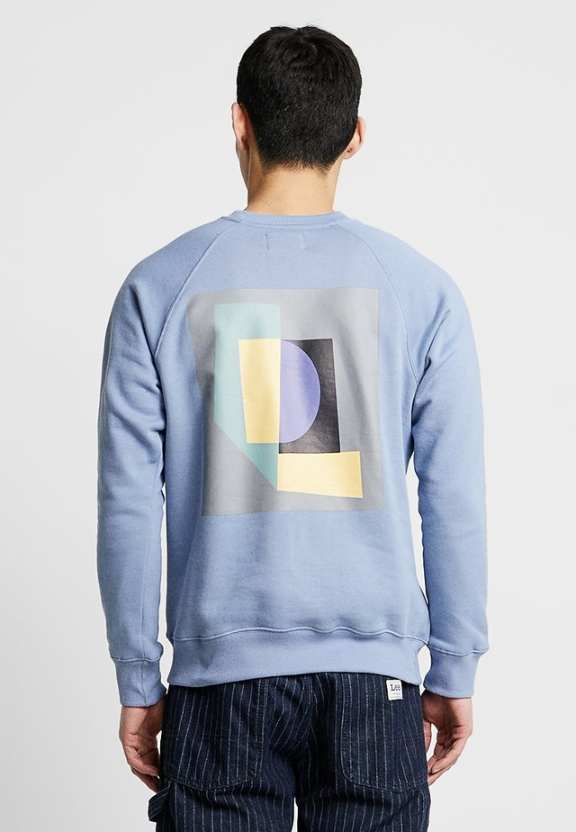 EVERT BACK PRINT - Sweatshirt - mid blue
