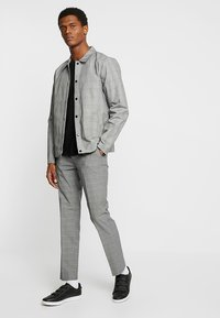 FoR - MALMO COACH JACKET POW CHECK - Leichte Jacke - light grey - 1
