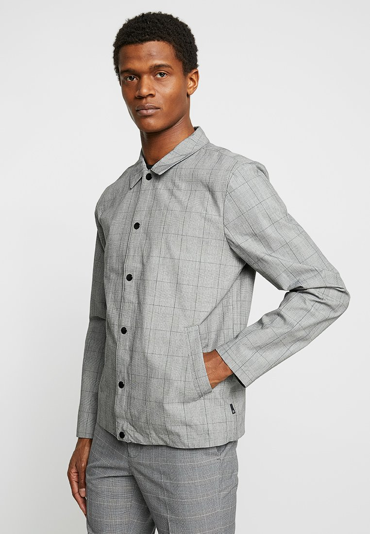 FoR - MALMO COACH JACKET POW CHECK - Lehká bunda - light grey