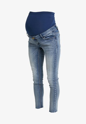 EXCLUSIVE DISTRESSED ANKLE GRAZER - Skinny džíny - vintage wash
